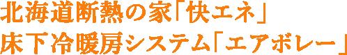 マホーム・ZEROの「快エネ」床下冷暖房システム「エアボレー」